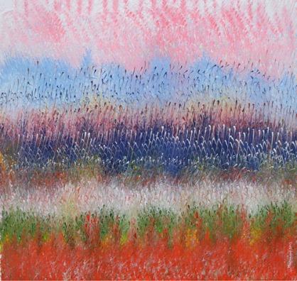 Mahmood Ahmad Landscape-5 Acrylic on Canvas 24 x 24 Inch