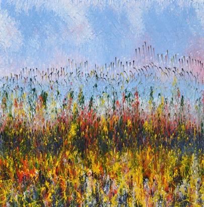 Mahmood Ahmad Landscape-6 Acrylic on Canvas 24 x 24 Inch