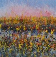 Mahmood Ahmad Landscape-7 Acrylic on Canvas 24 x 24 Inch