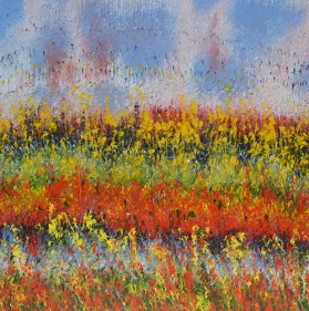 Mahmood Ahmad Landscape-8 Acrylic on Canvas 24 x 24 Inch