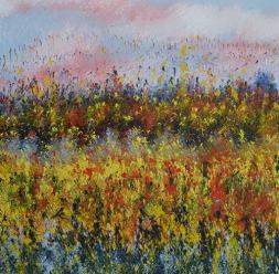 Mahmood Ahmad Landscape-9 Acrylic on Canvas 24 x 24 Inch