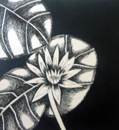 Nirmal Thakur Lotus-1 Mix Media on Canvas 12x12 Inches 4K