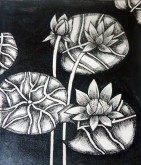 Nirmal Thakur Lotus-2 Mix Media on Canvas 9x7 Inches 3.5K