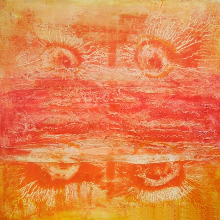 Roop Chand Oil on Canvas 40x40 Inches 2013 1