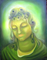 Simret Jandu Bodhi Oil on Canvas 36x48 Inches