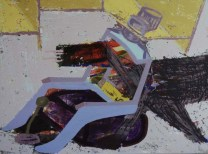 Vipin Kumar Yadav Conflict Of Ideas Acrylic on Canvas 36 x 48 Inches 2013