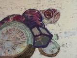 Vipin Kumar Yadav Fired Acrylic on Canvas 36 x 48 Inches 2013