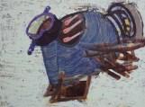 Vipin Kumar Yadav Morphing Metal Acrylic on Canvas 36 x 48 Inches 2013