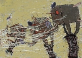 Vipin Kumar Yadav Untitled Acrylic and Charcoal on Canvas 60 x 84 Inches 2010