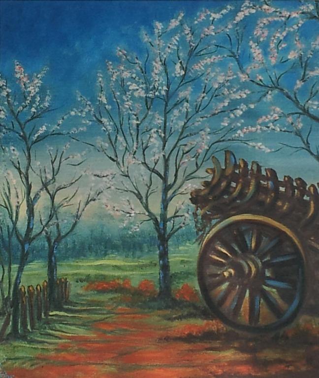 Anjna Mehra Wooden Cart