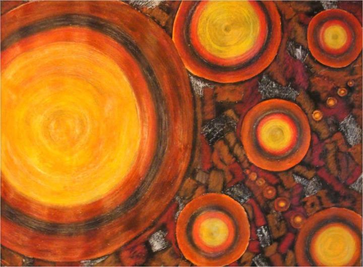 Archana Bansal Earth Mixed Media on Canvas 36 x 48 Inches 2010