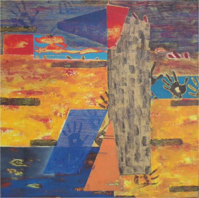 Archana Bansal Impression Acrylic on Canvas 48 x 48 Inches 2011