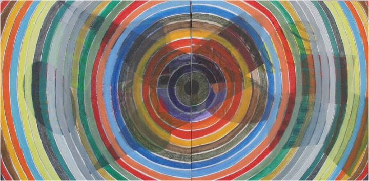 Archana Bansal Journey 3 Acrylic on Canvas 36 x 72 Inches 2011