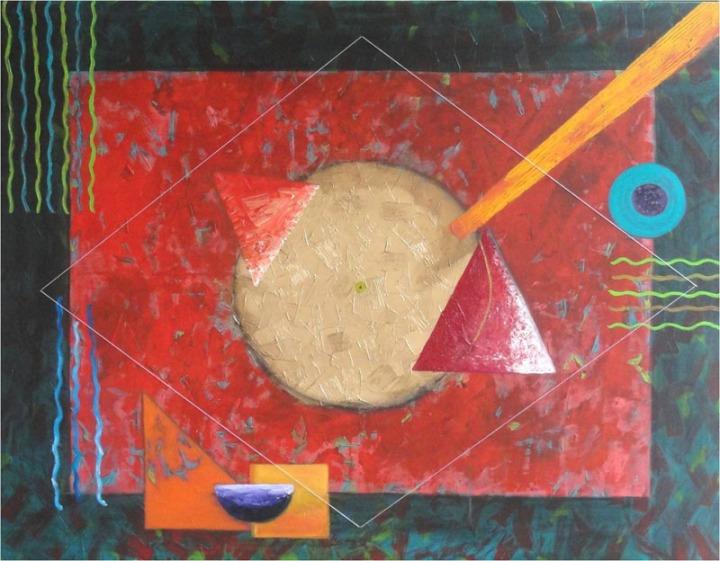 Archana Bansal Still Revolving Life Acrylic on Canvas 48 x 60 Inches 2011