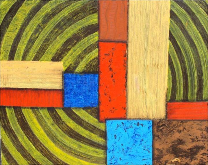 Archana Bansal Thrust Mixed Media on Canvas 48 x 60 Inches 2010