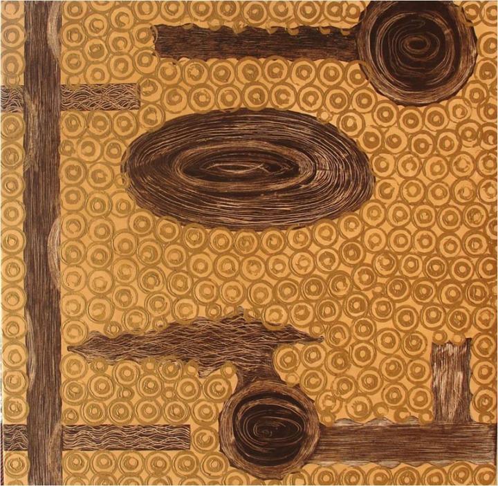 Archana Bansal Untitled 4 Acrylic on Canvas 48 x 48 Inches 2010