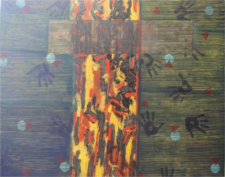 Archana Bansal Untitled 5 Acrylic on Canvas 48 x 60 Inches 2011