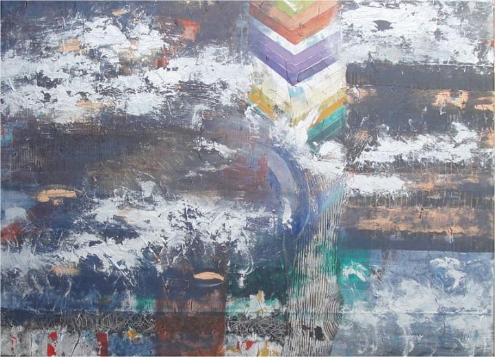 Archana Bansal Untitled 6 Acrylic on Canvas 36 x 48 Inches 2012