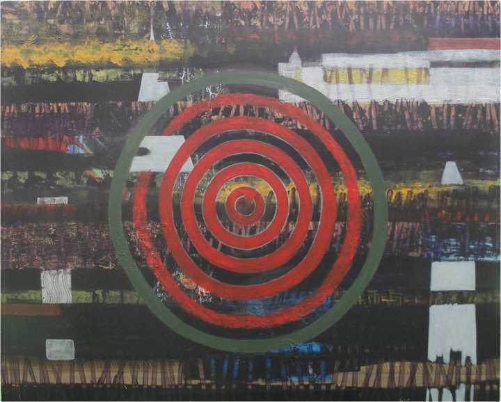 Archana Bansal Untitled Acrylic on Canvas 48 x 60 Inches 2012