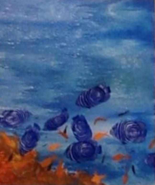 B. Jaya Lakshmi Untitled 1 Acrylic on Canvas 30 x 30 Inches