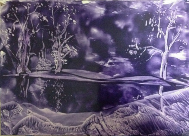 B. Jaya Lakshmi Untitled 4 Encaustic 22 x 28 Inches