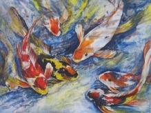 Deepa Sharma Beautiful Ocean Life Oil on Canvas 96 x 70 Inches