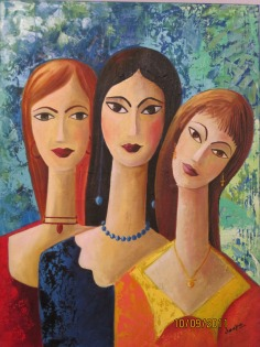 Deepa Sharma Women PowerOil on Canvas 60 x 80 Inches