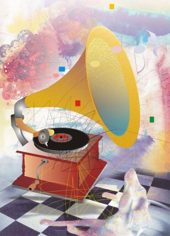 DS Kapoor His Master Voice Digital Art