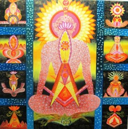 Kamal Sharma God Particle 2 Oil on Canvas 36 x 36 Inches