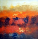 Mukesh Kumar Fantasy Landscape 1 Acrylic on Canvas 30 x 30 Inch Rs. 20000