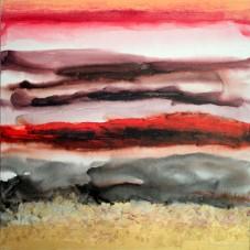 Mukesh Kumar Fantasy Landscape 11 Acrylic on Canvas 42 x 42 Inches