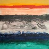 Mukesh Kumar Fantasy Landscape 13 Acrylic on Canvas 42 x 42 Inches