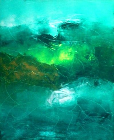 Mukesh Kumar Fantasy Landscape 2 Acrylic on Canvas 36 x 30 Inch Rs. 22000