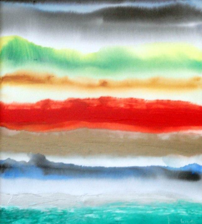 Mukesh Kumar Fantasy Landscape 3 Acrylic on Canvas 40 x 35 Inch Rs. 25000