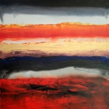 Mukesh Kumar Fantasy Landscape 5 Acrylic on Canvas 42 x 42 Inches