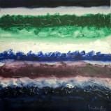 Mukesh Kumar Fantasy Landscape 9 Acrylic on Canvas 42 x 42 Inches