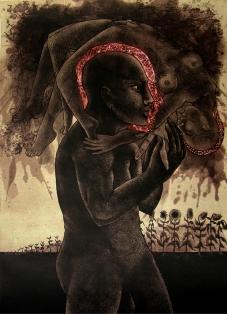 Rakesh Bani Life-A Etching & Aquatint 70 x 50 cm 45K