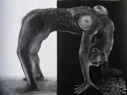 Rakesh Bani Life-B Etching & Aquatint 50 x 70 cm 50K