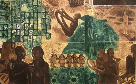 Rakesh Bani Past Awat Etching & Aquatint 100 x 165 cm 150K