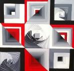 Ritu Bhatnagar Mystery 24 x 24 Inches Oil on Canvas 2012 32K