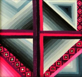 Ritu Bhatnagar Playing Field 12 x 12 Inches Oil on Canvas 2010 6K