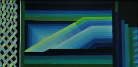 Ritu Bhatnagar Serenity 24 x 12 Inches Oil on Canvas 2010 12K