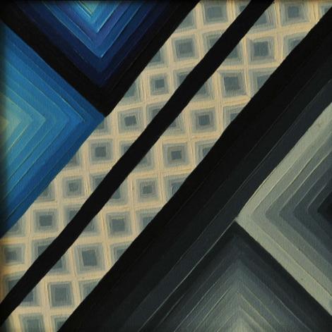 Ritu Bhatnagar Silver Lining 12 x 12 Inches Oil on Canvas 2010 6K