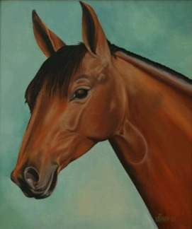 Sachdev Mann Horse Series 1 Oil on Canvas