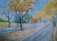 Sachdev Mann Landscape 1 Water Colours