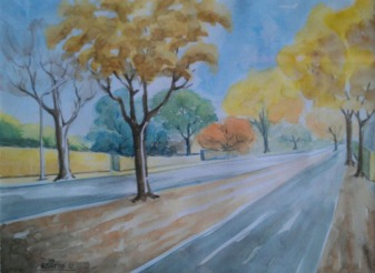 Sachdev Mann Landscape 1 Water Colours