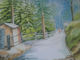 Sachdev Mann Landscape 2 Water Colours