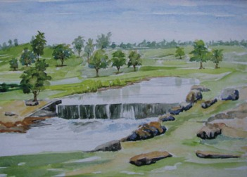 Sachdev Mann Landscape 3 Water Colours