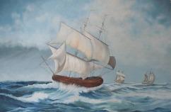 Sachdev Mann Sea Series 1 Oil on Canvas