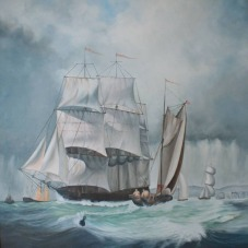 Sachdev Mann Sea Series 2 Oil on Canvas